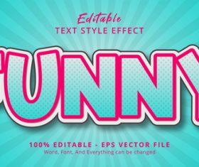 Funny editable text effect vector