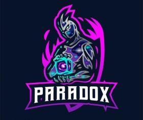 Galaxy Mascot Logo design template vector