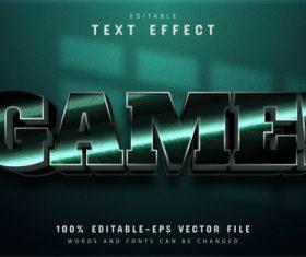 Game text 3d text effect editable vector