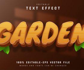 Garden text effect editable