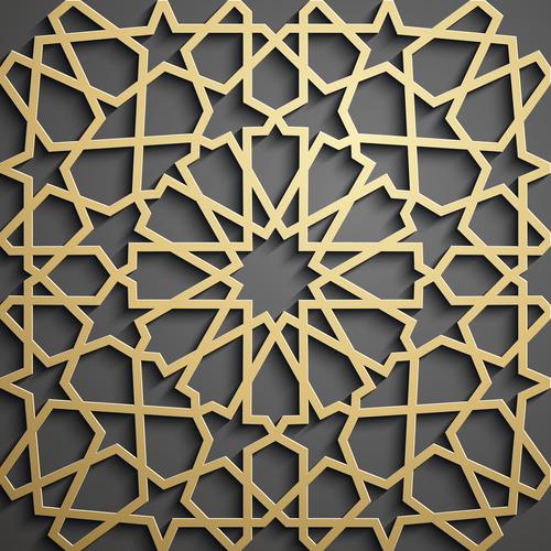 Geometric art pattern background vector