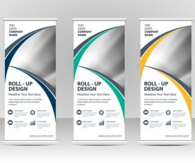 Geometric cover vertical banners vector