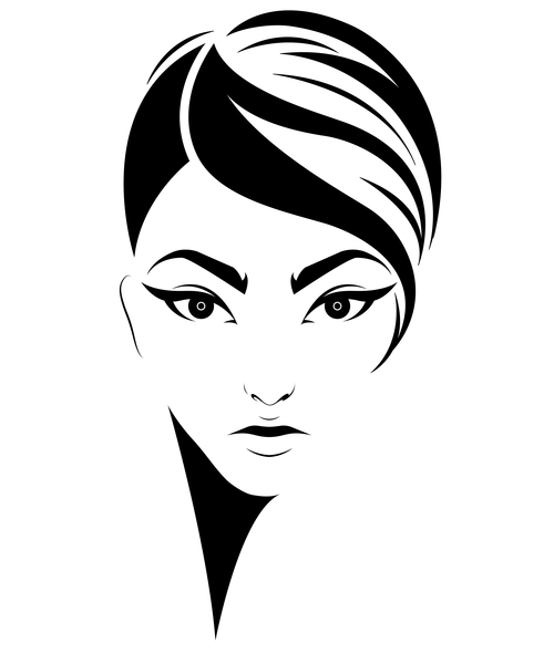 Girl fashion hairstyle vector
