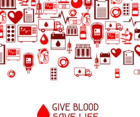 Give blood save life vector