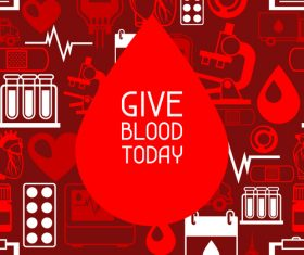 Give blood today vector