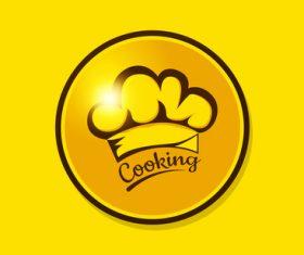 Golden chef hat vector