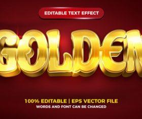 Golden luxury style 3d template vector