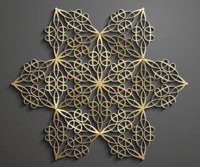 Golden star combination pattern background vector