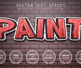 Graffity vector text effect vector