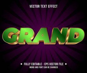 Grand editable text style vector