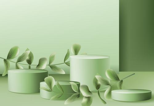 Green booth vector