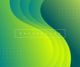 Green half fan background vector
