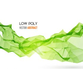 Green low poly vector abstract