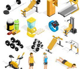 Gym equipment illustration vector