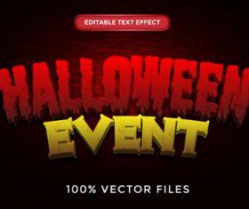 Halloween event text effect vector