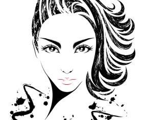 Hand drawn girl avatar vector