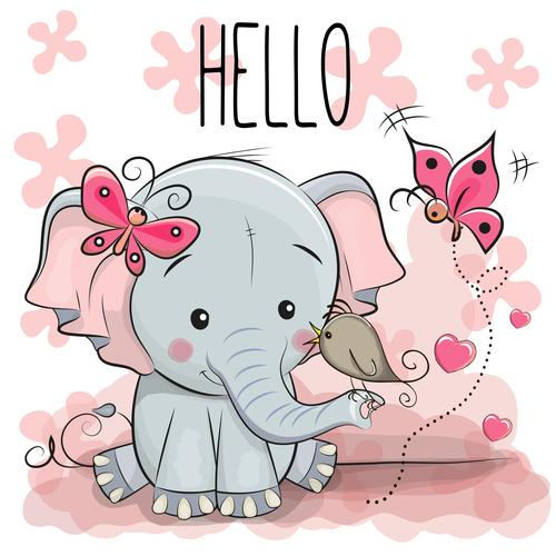 Happy animals cartoon background illustration vector