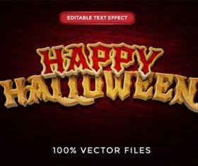 Happy halloween text effect vector