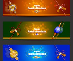 Happy raksha bandhan banner vector