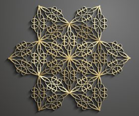 Hexagonal beautiful combination pattern background vector