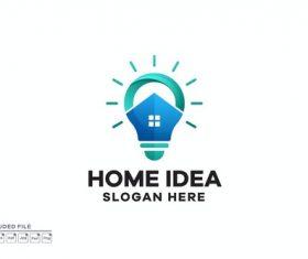 Home idea gradient colorful logo design vector