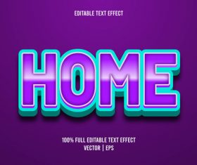 Home text effect vector