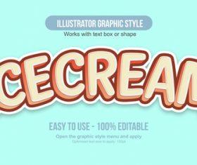 Ice Cream illustrator graphic style vector
