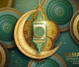 Islamic festival style card vector