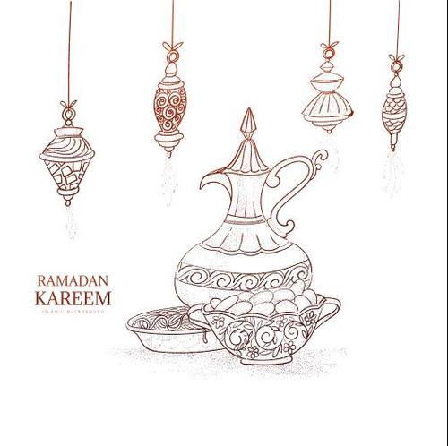Islamic holiday background decoration vector