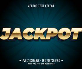 Jackpot editable text style vector