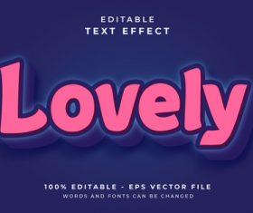 LOVELY editable text effect vector