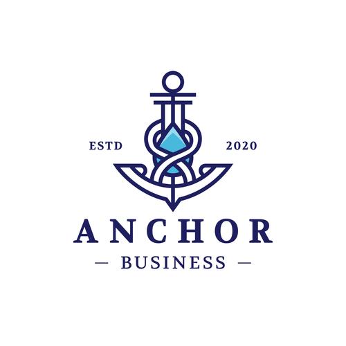 Logo anchor vector