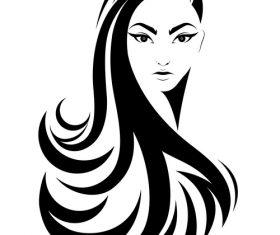 Long curly hair girl avatar vector