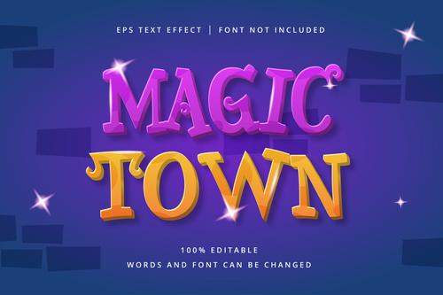 MAGIC text effect vector