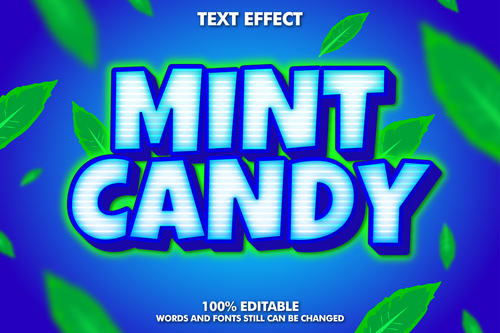 MINT CANDY text effect vector