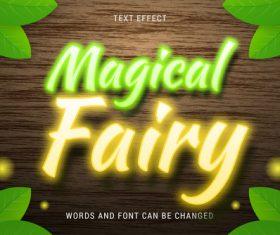Magical fairy text effect vector