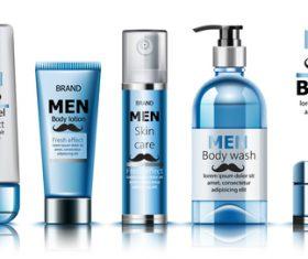 Men brand cosmetics vector
