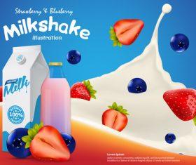 Milk shake illustration vector
