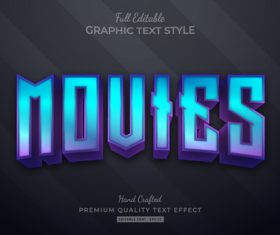 Moutes editable text style vector