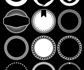 Multilateral graphic circle element vector