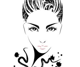 Neutral hairstyle vector