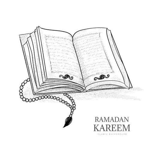 Opened Quran Book Vector