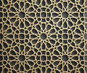 Openwork pattern decoration background vector