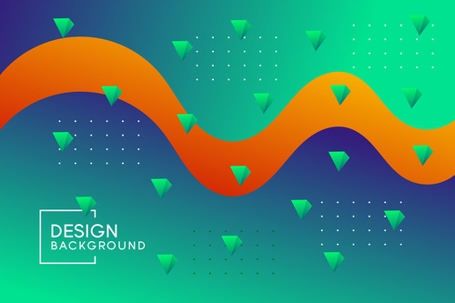 Orange bars background vector