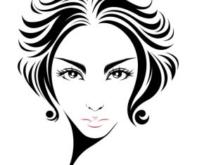 Outturned short hair hairstyle vector