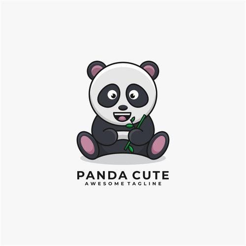 Panda cute vector