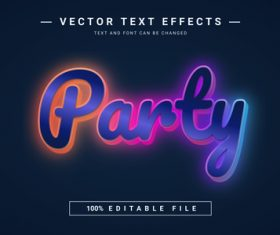 Party vector text effects