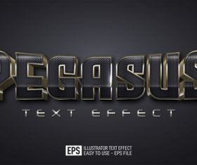 Pegasus editable style effect template vector