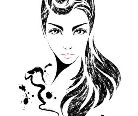 Personalized hairstyle vector