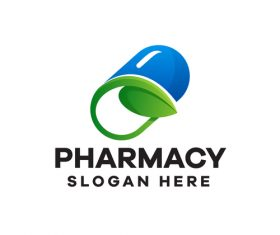 Pharmacy gradient logo design vector